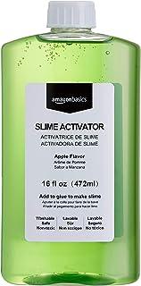 AmazonBasics Slime Activator Borax Solution, Apple Flavor, 16-oz