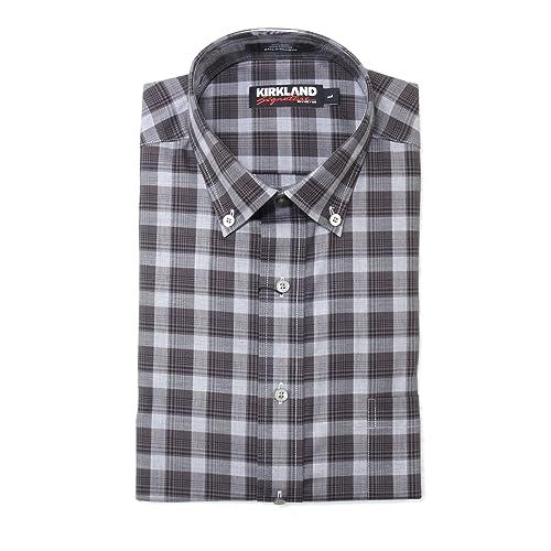 9a60f1397268 KS Kirkland Signature Men s Button Down Long Sleeve Non-Iron Sport Shirt