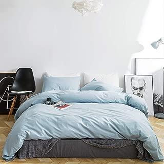 pale blue duvet