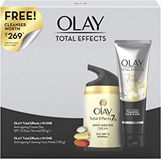 Olay Combo Pack Total Effects 7 in 1 (Day Cream, 50 g & Cleanser, 100g)