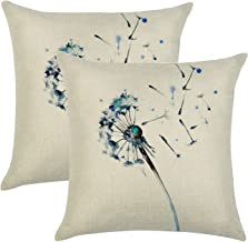 Treely 2 Pack Throw Pillow Covers 18x18 Inches Dandelion Decorative Pillow Cover Case for Sofa Couch Bed Home,Pattern 5