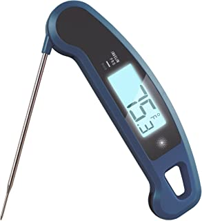 Lavatools Javelin PRO Duo Ambidextrous Backlit Professional Digital Instant Read Meat Thermometer for Kitchen, Food Cooking, Grill, BBQ, Smoker, Candy, Brewing, Coffee, and Oil Deep Frying (Blueberry)