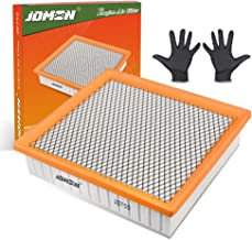 JDMON Engine Panel Air Filter Replacement for Toyota /Lexus/Jeep/Dodge (CA10755) for (2013-2018)Avalon V6, (2012-2017)Camry V6, (2014-2019 Only Gas) Highlander,(2011-2018) Sienna with A Pair of Gloves