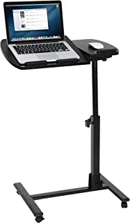 SUPER DEAL Angle & Height Adjustable Rolling Table Desk Laptop Notebook Stand..