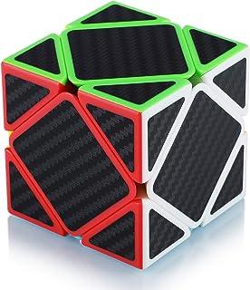 Maomaoyu Skewb Speed Cube de Vitesse Lisse Magique Puzzle Twist Magic Cube Fibre de Carbone Autocollant Cadeau de Vacances...