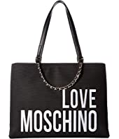 LOVE Moschino - Canvas Embroidery Tote