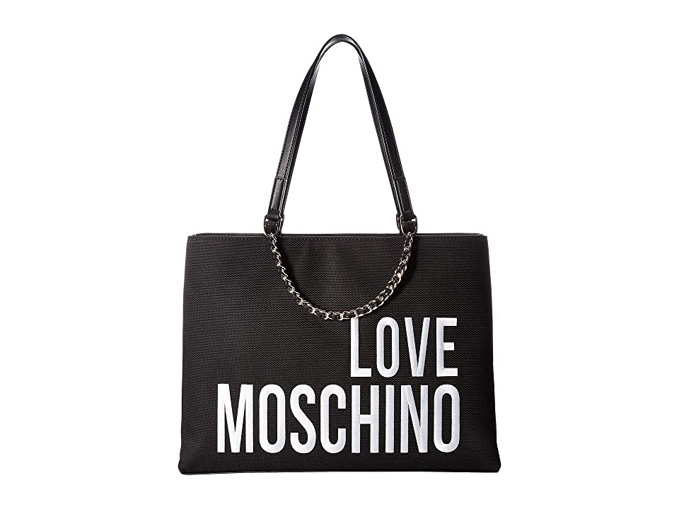 LOVE Moschino - LOVE Moschino Canvas Embroidery Tote