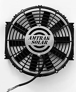 """Amtrak Solar Exhuast Fan 12"""" DC Fan, Most Powerful F"""