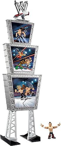 Mattel V7951 - WWE Rumblers - Titantron Tower avec Evan Bourne Mini-Figurine