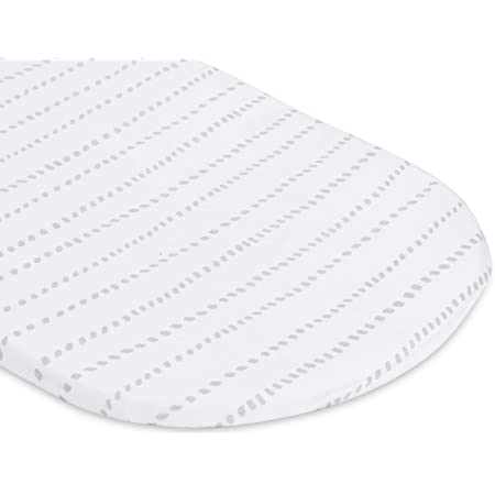 Certified by GOTS and Oeko TEX Pack of 3-100/% Organic Cotton Bassinet Sheets with Waterproof Mattress Protector for Baby Boys and Girls Lilly B