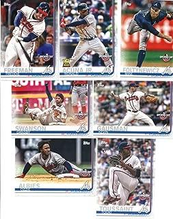 2019 Topps Opening Day Baseball Atlanta Braves Team Set of 7 Cards: Freddie Freeman(#8), Dansby Swanson(#38), Ronald Acuna Jr.(#51), Mike Foltynewicz(#54), Kevin Gausman(#96), Ozzie Albies(#98), Touki Toussaint(#178)