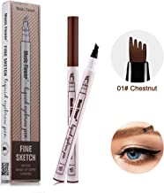 Eyebrow Tattoo Pen,microblade pen Microblading tattoo eyebrow Pencil with a Micro-Fork Tip Applicator Creates Natural Looking Brows Effortlessly and Stays on All Day (Chestnut)