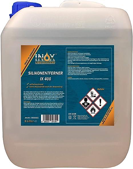 Inox Ix400 Silikonentferner 5l Universeller Reiniger Zum Lösen Und Entfernen Von Silikon Fett Öl Und Wachs Auto