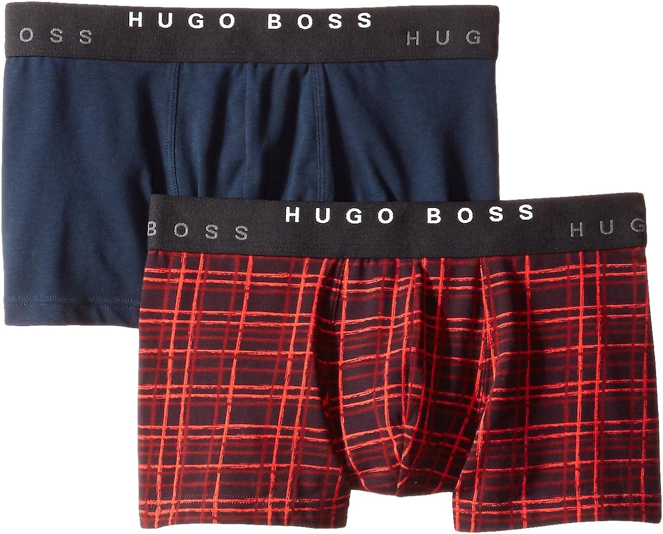 BOSS HUGO BOSS Men's 2-Pack Cotton Stretch Boxer Brief