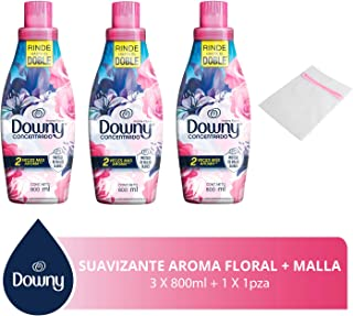 Downy Downy Floral Suavizante 800ml 3 Unidades, 2.4lts En Total + Malla Para Ropa Delicada, Pack of 1