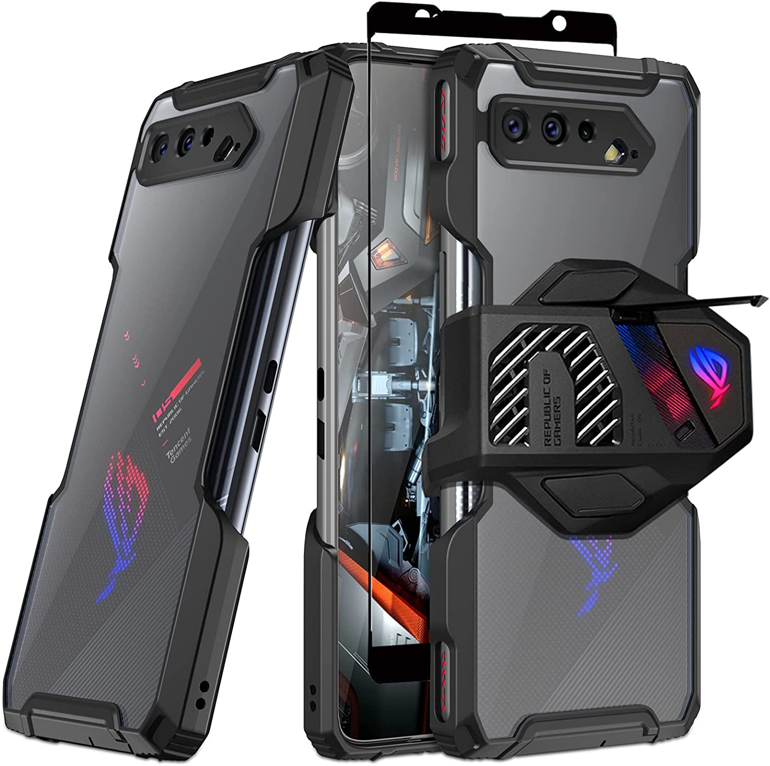 Fanbiya High quality new Armor Case for ASUS ROG Phone NEW before selling Clear TPU 5 Ba - with