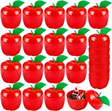 URATOT 24 Pieces Red Apple Containers Toy Plastic Filled Bobbing Apple Party Favor Supplies Christmas Tree Decorations for...