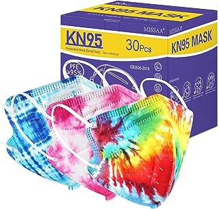 ماسک صورت بچه گانه KN95 برای کودکان 30 بسته ، 5 لایه ماسک یکبار مصرف بچه گانه با حلقه الاستیک گوش برای پسران ، دختران ، داخل و خارج از منزل