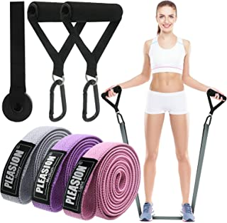 PLEASION Long Resistance Bands Set , Fabric Pull Up Bands for Exercise, Full Body Assistance Bands for Women & Men, Power ...