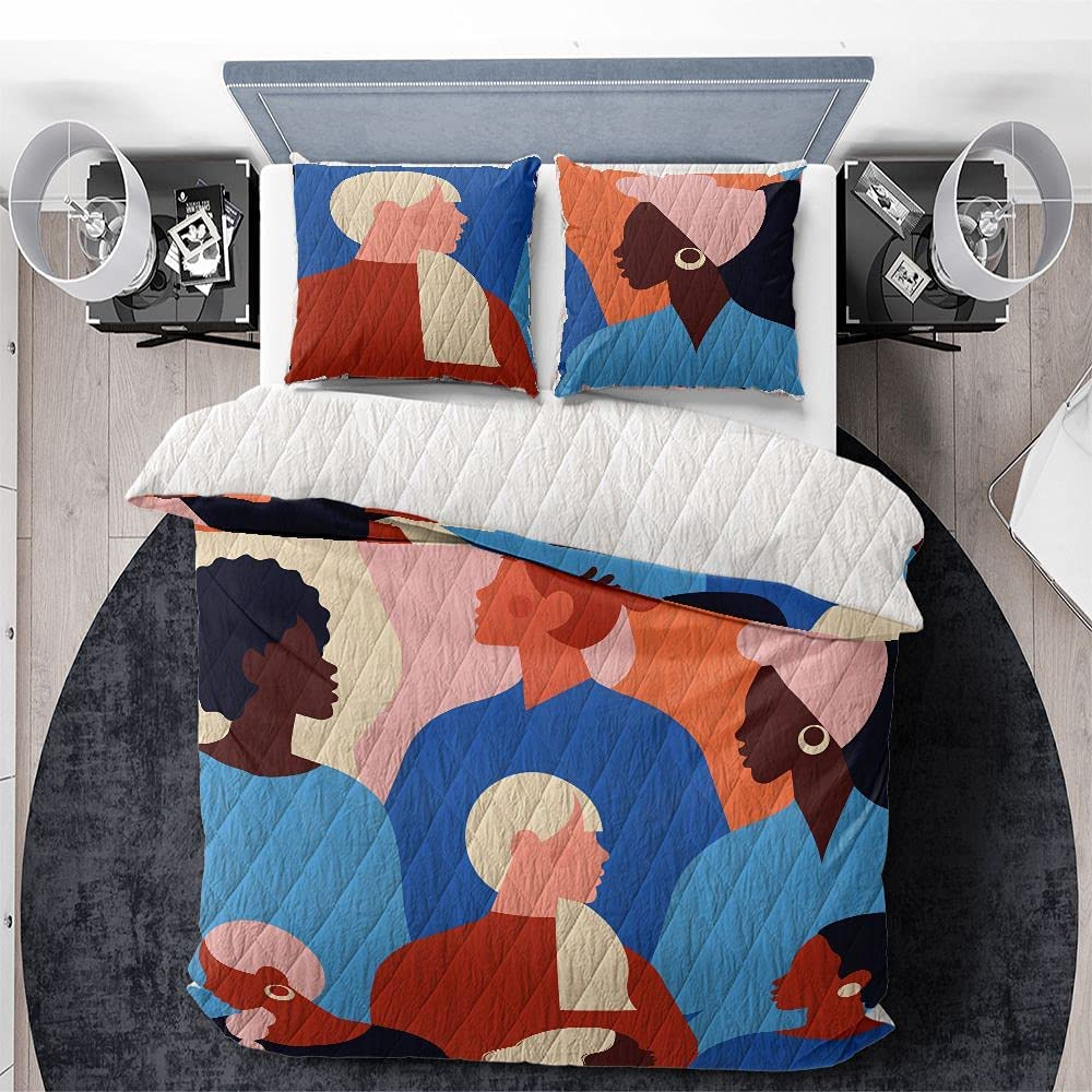 GANTEE Colorful Girls Quilts Bedding Set Includes A 3Psc Large special latest price with Qu