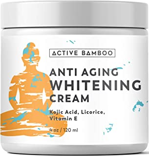 Whitening Cream. Anti Aging Skin Lightening Whitening Cream. Dark Spot Corrector as Day Night Moisturizing Cream. 4 Oz