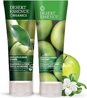 Desert Essence Green Apple & Ginger Shampoo & Conditioner Bundle - 8 Fl Ounce - Volume For Fine Hair - Natural - Deep Mois...