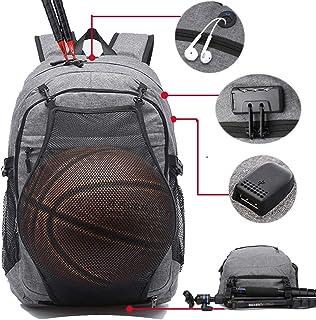 17.3 inch Travel Sport Laptop Backpack, Basketball Backpack Soccer Bag for Men Women, Water
