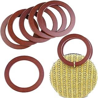 6Pcs Wooden Handles Replacement for Handmade Beach Bag Handbags Straw Bag Purse Handles