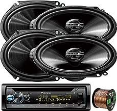 EnrockAudio Pioneer DEH-S5100BT in-Dash Single-DIN Built-in Bluetooth CD Receiver, 4 x Pioneer G-Series Car Audio 6x8 250W 2-Way Car Speakers, 16-Gauge 50Ft. CCA Speaker Wire