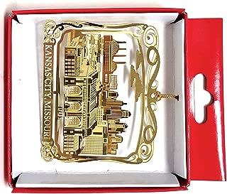 Nations Treasures Kansas City, Missouri Brass Christmas Ornament
