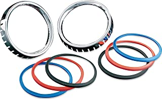 Kuryakyn 3782 Motorcycle Accent Accessory: Small Deluxe Gauge Bezels with Colored Accents for 1986-2013 Harley-Davidson Motorcycles, Chrome, 1 Pair