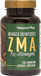 NaturesPlus ZMA Rx-Strength - 90 Vegetarian Capsules - Zinc Magnesium Aspartate Supplement with Vitamin B6 - All Natural M...