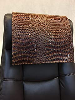 luvfabrics 14x30 inch Copper Swamp Faux Leather Vinyl Sofa Loveseat Chaise Theater Seat, RV Cover, Chair Caps Headrest Pad, Recliner Head Cover, Furniture Protector