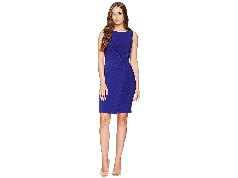 LAUREN Ralph Lauren 1T Matte Jersey Laila Sleeveless Day Dress (Cliffside Violet) Women