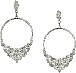 Lady Frontal Hoop Pierced Earrings