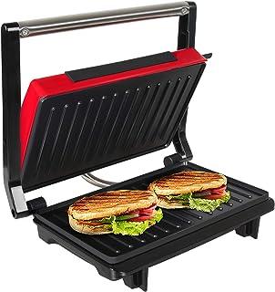 OZAVO Sandwichera Grill Panini & Toast, Parrilla eléctrica, Potencia de 750 W, Placas de Grill Antiadherentes, Asa de Toqu...