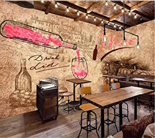 Afashiony Custom Photo 3D Wall Mural Wallpaper Mural Retro Wine Winery Wine Cellar Bar Hotel Wall Living Room Bedroom Decoration Wallpaper -450Cmx300Cm