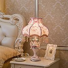 European Desk lamp Bedroom Bedside Lamp Retro Bedroom dimmer Bedside lamp dimmer Switch,B
