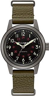 orologio solo tempo uomo Bulova Military Vintage casual cod. 98A255