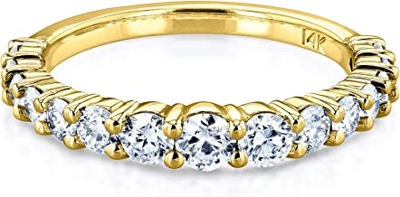 Kobelli 3/4 Carat TDW Graduated Diamond Wedding Band in 14k Yellow Gold