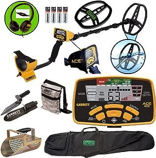 Garrett ACE 400 Metal Detector with DD Waterproof Coil, Pouch, Travel Bag, Metal Scoop, Edge Digger,