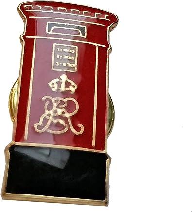 Enamel Pin Badge, London Post Box - London Souvenir Pin Badge Detailing Red Post Box