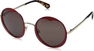 Kate Spade Women's Rosaria/s Round Sunglasses, RED, 53 mm