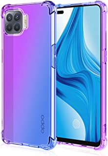 EasyLifeGo for Oppo A93 / Oppo F17 Pro/Oppo Reno4 Lite Case Slim Shock Absorption Flexible TPU Soft Edge Bumper with Reinf...