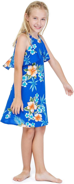 Girl Hawaiian Round Neck with Ruffle Hibiscus Philadelphia Mall Dress depot in