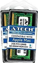 A-Tech for Apple 4GB Kit 2X 2GB PC3-10600 Mac Mini iMac MacBook Pro Mid 2010 Late 2011 A1286 MD311LL/A A1297 MC511LL/A A1312 MC309LL/A A1311 MC812LL/A MC813LL/A MC814LL/A MC815LL/A A1347 Memory RAM