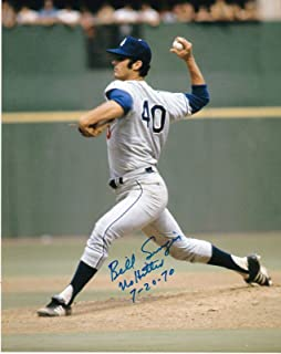 Signed Singer Picture - NO HITTER 7 20 70 8x10 - Autographed MLB Photos