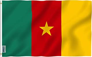 Anley Fly Breeze 3x5 Feet Cameroun Flag - Vivid Color and UV Fade Resistant - Canvas Header and Double Stitched - Cameroonian Flags Polyester with Brass Grommets 3 X 5 Ft