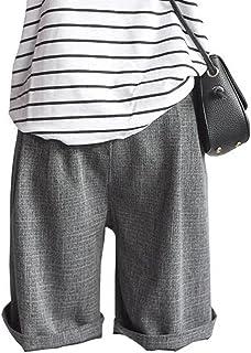 (ニカ) レディース ショートパンツ 夏 パンツ おしゃれ ハーフパンツ ゆったり 短パン 半パンツ 薄手 パンツ 通学 通学 パンツ