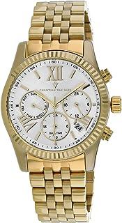 Christian Van Sant Women's Blisse Quartz Stainless Steel Strap, Gold, 20 Casual Watch (Model: CV0622)